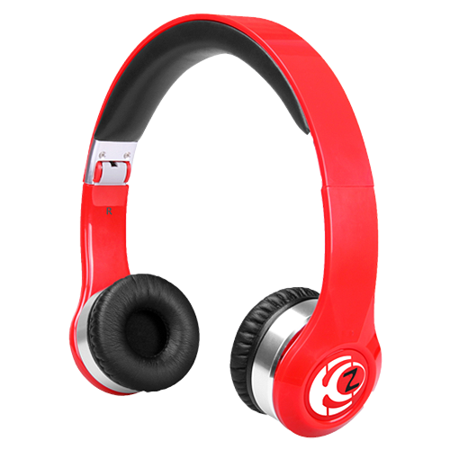 Krankz Wireless On-Ear Headphones Red